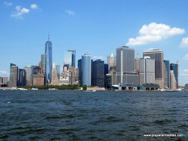 vistas a Manhattan desde la Isla del Gobernador