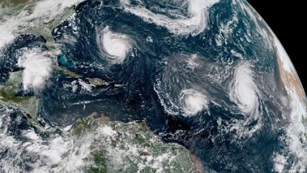 Πέντε κυκλώνες ταυτόχρονα στον Ατλαντικό Ωκεανό - Είναι η δεύτερη φορά στην ιστορία