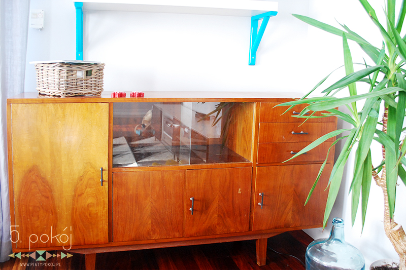 retro meble vintage prl komoda fornir