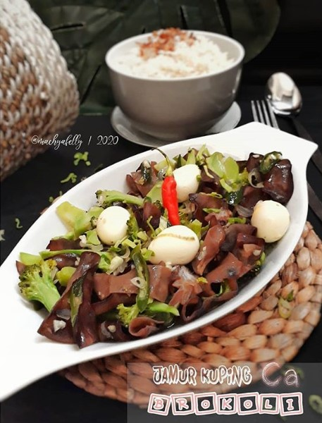 Cara Mengolah Jamur Kuping : mengolah, jamur, kuping, Memasak, Jamur, Kuping, Brokoli