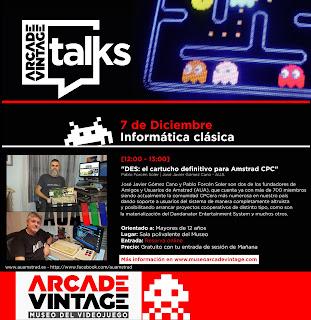 Presentación Dandanator CPC, Pablo Forcen AUA / Museo Arcade Vintage