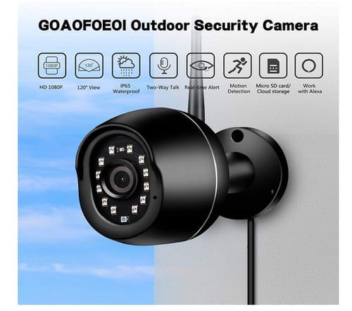 GOAOFOEOI 1080P WiFi Waterproof Surveillance Camera