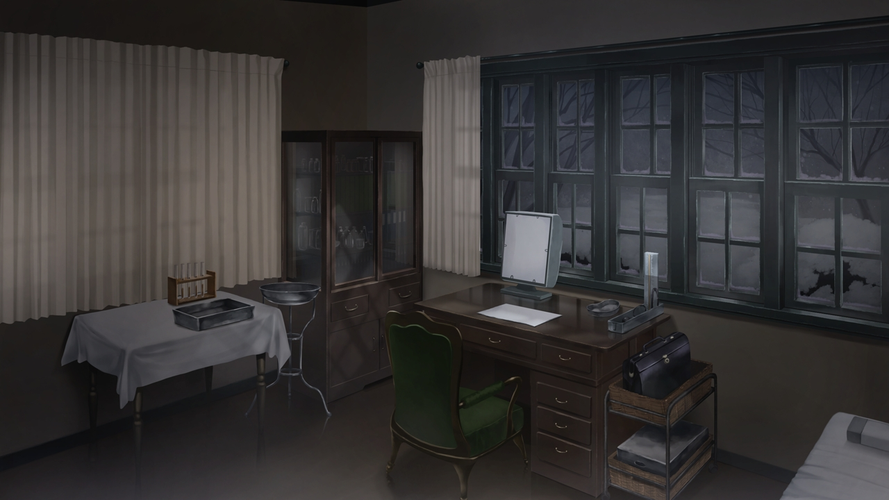 Anime Landscape Vintage Doctor Office