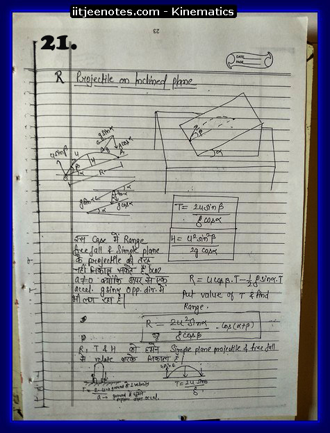 kinematics notes cbse5
