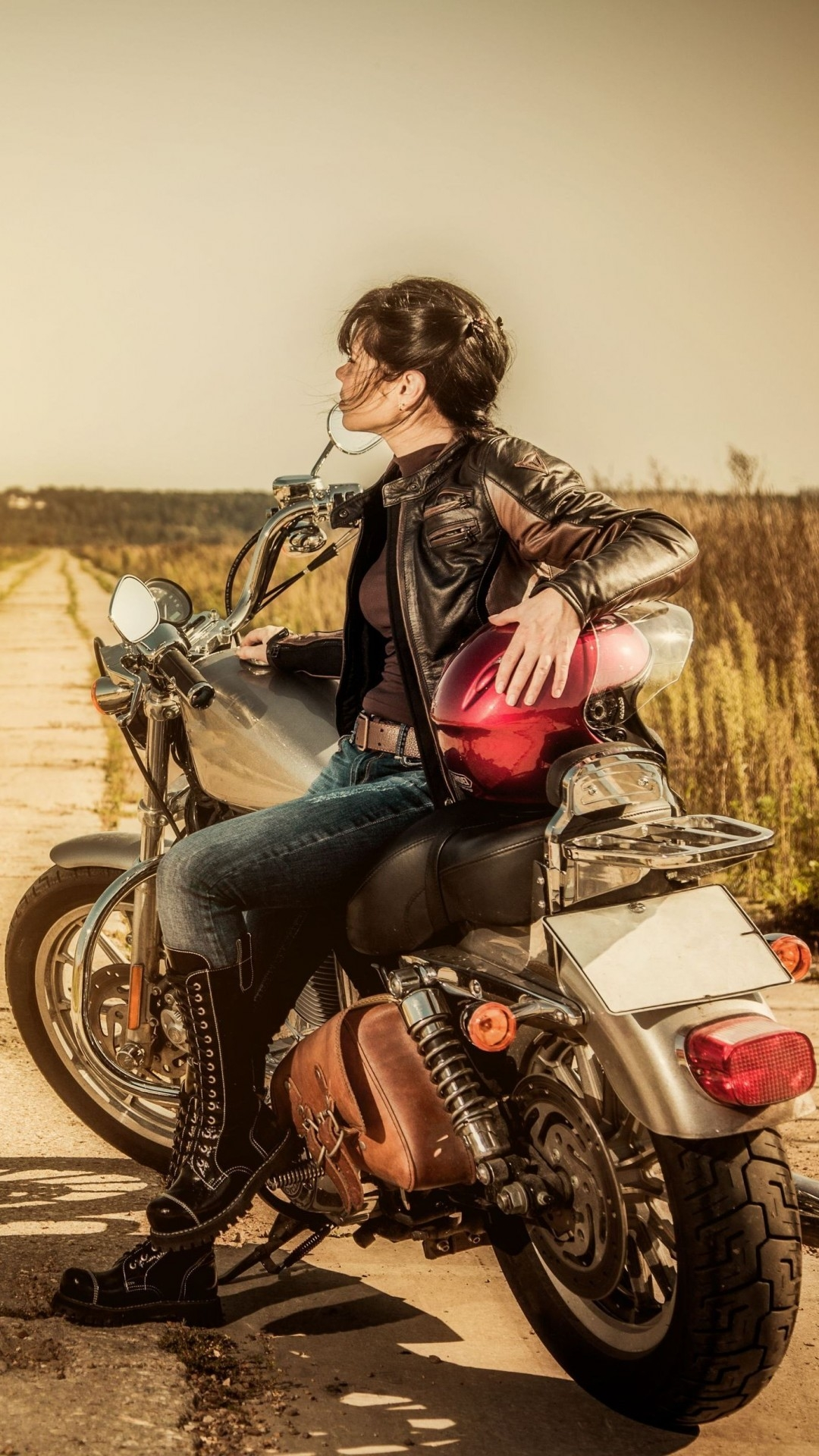 click here to download 1080x1920 pixel girl motorcycle android best wallpaper
