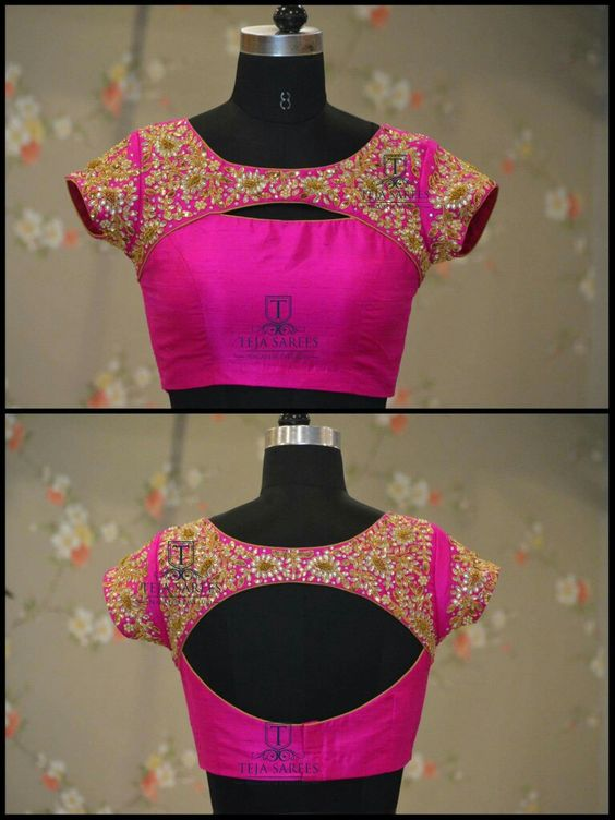 Top 10 Silk Saree Blouse Designs For This Diwali Candy
