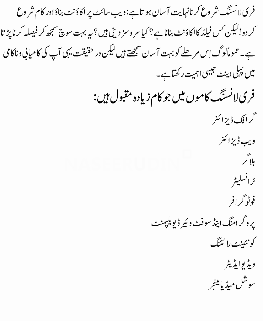 How to Start Freelancing What is Freelancing in Urdu How to work on Freelancer What is freelance writing Free Lancers Free Lance Get a Freelancer