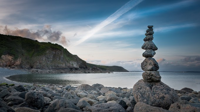 Pedras, Equilíbrio, Céu, Natureza