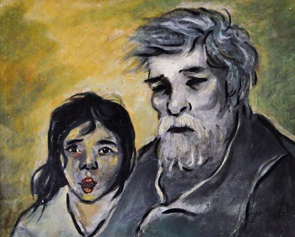 Abuelo y nieta, 1956