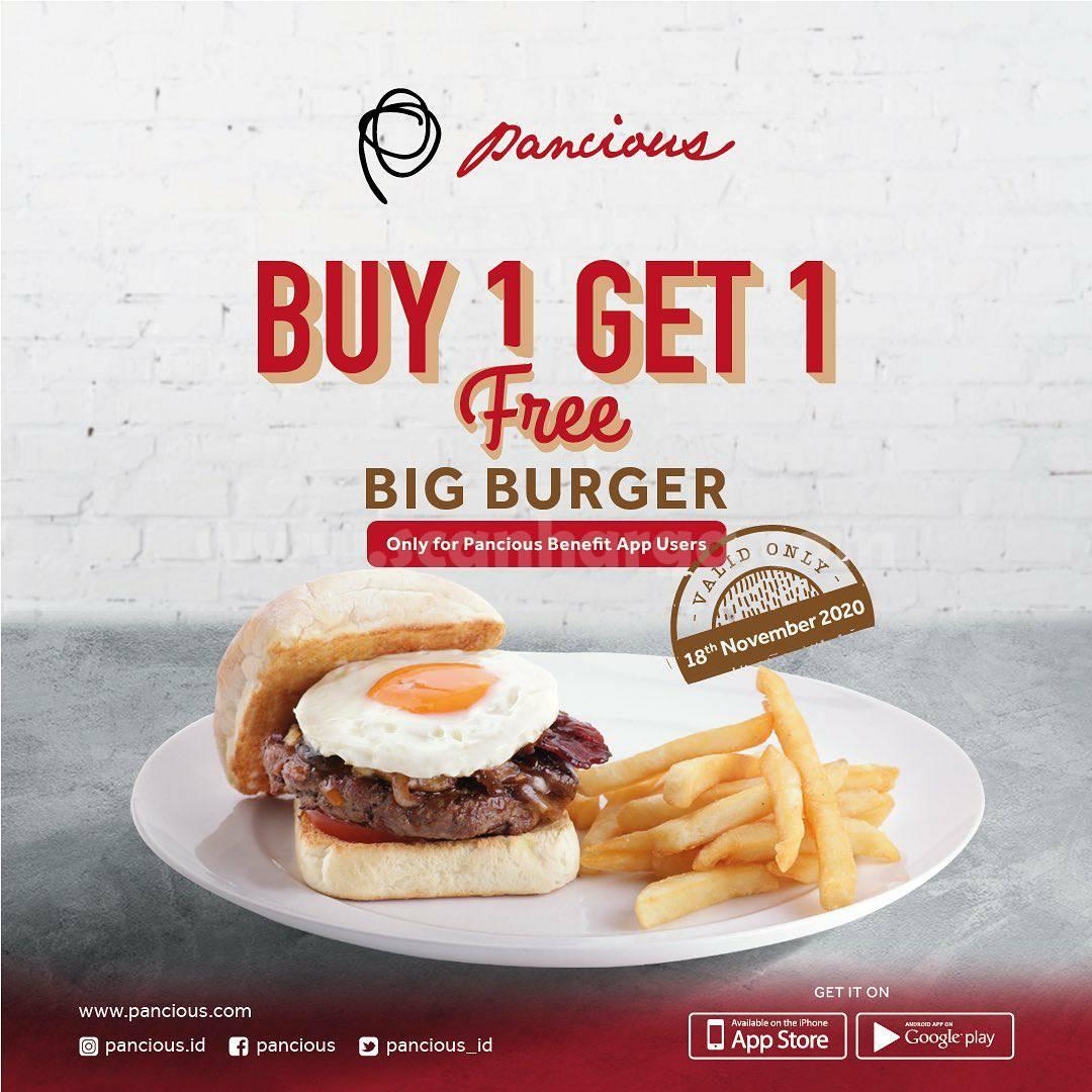 Promo Pancious Buy 1 Get 1 Free Big Burger*