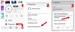 Cara terbaru menghapus password di Opera Android