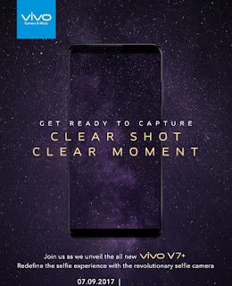 Vivo V7+ in India on September 7