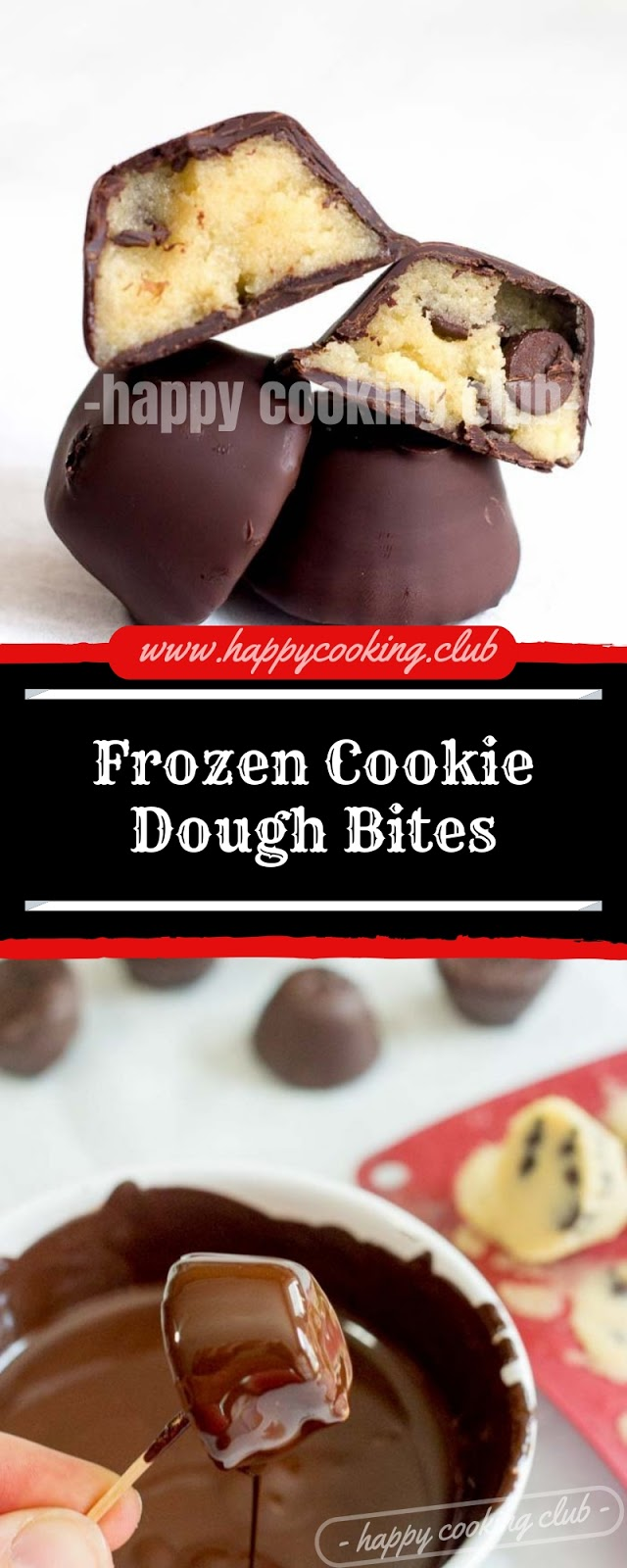 Frozen Cookie Dough Bites