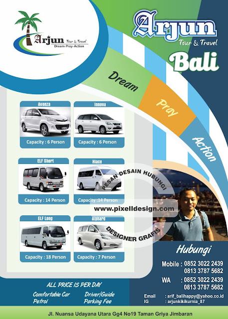 Iklan Brosur Rental Sewa Mobil