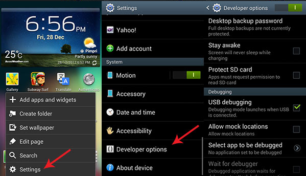 Enable USB Debugging Android Honeycomb Android ICS