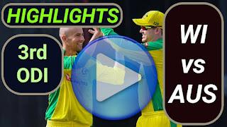 WI vs AUS 3rd ODI 2021