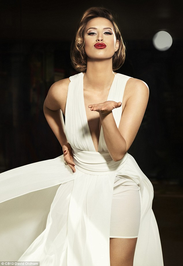 Ferne McCann looks sensational in a plunging white gown as she channels Marilyn Monroe for new campaign