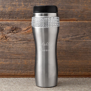 Personalized Insulated Bling Travel Tumbler with Lid