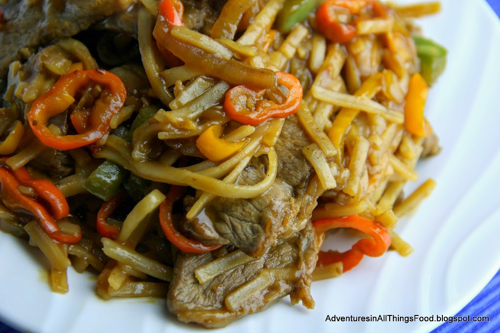 Adventures In All Things Food Beef And Peppers Over Rice