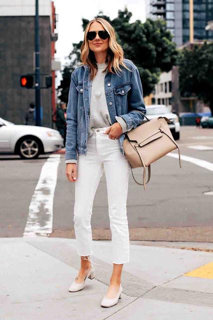 Como usar jaqueta jeans de forma cool