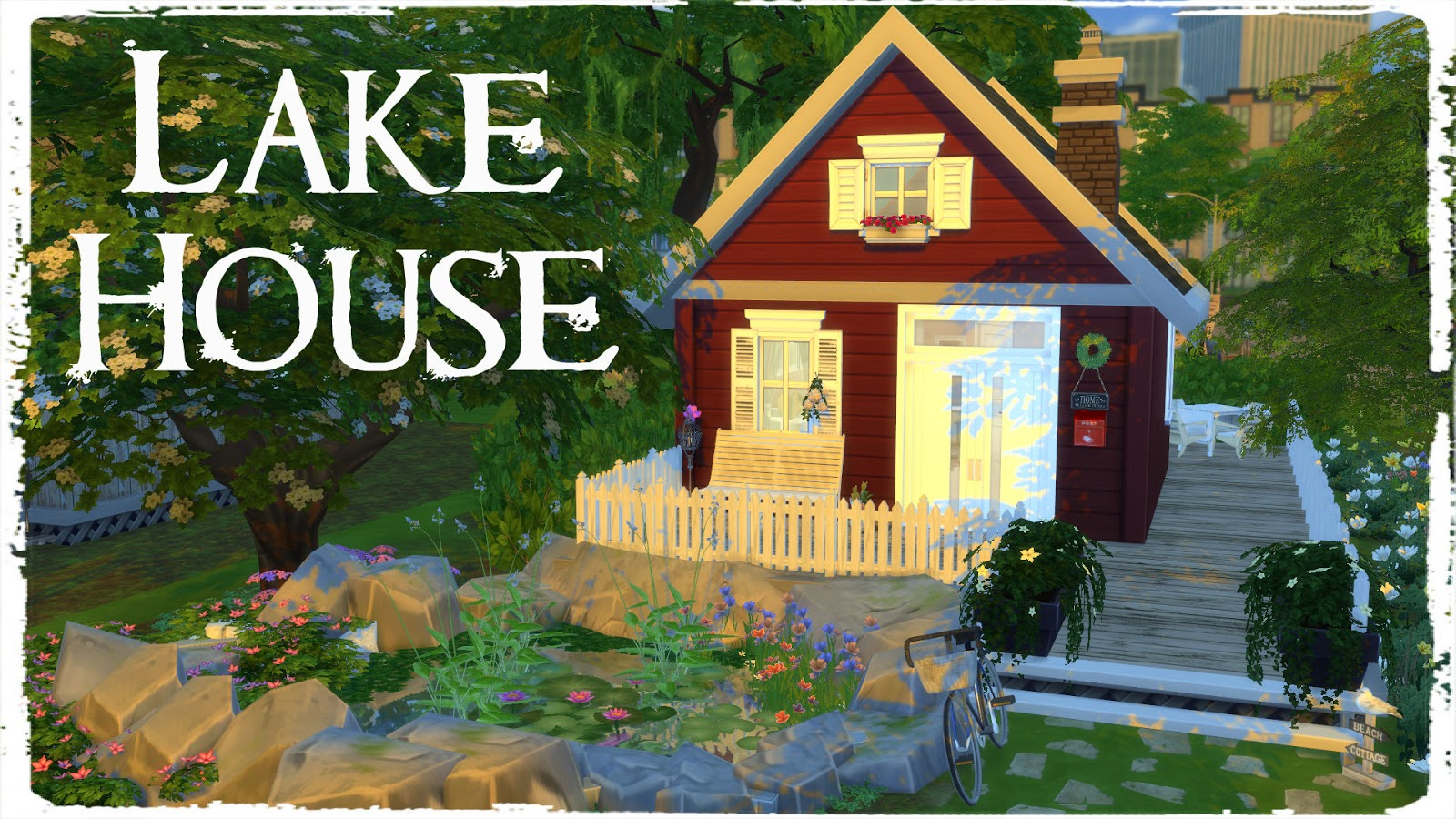 Sims 4 Lake House Build Decoration For Download Dinha