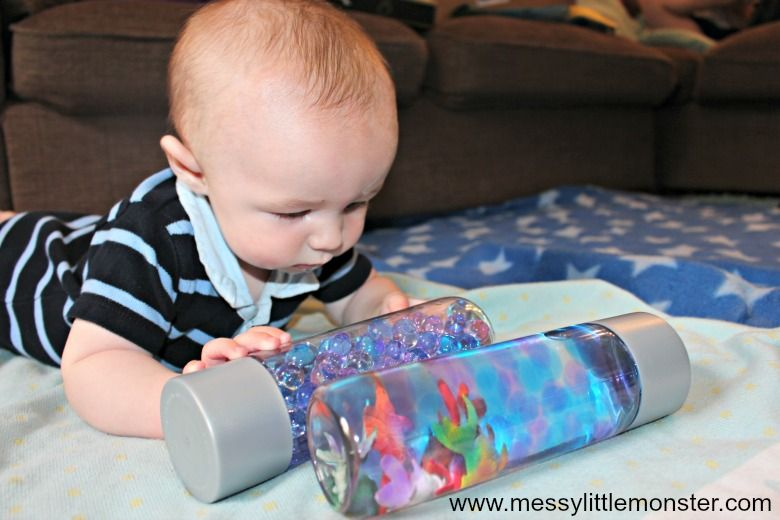 activities for babies - ocean sensory bottle