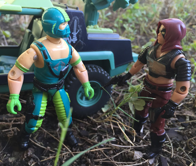 1984 Zartan, Funskool Road Pig, 1986 Zandar, Copperhead, Dreadnok Stinger, SEARS Exclusive