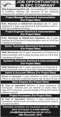 Jobs in Elite Engineering Pvt Ltd