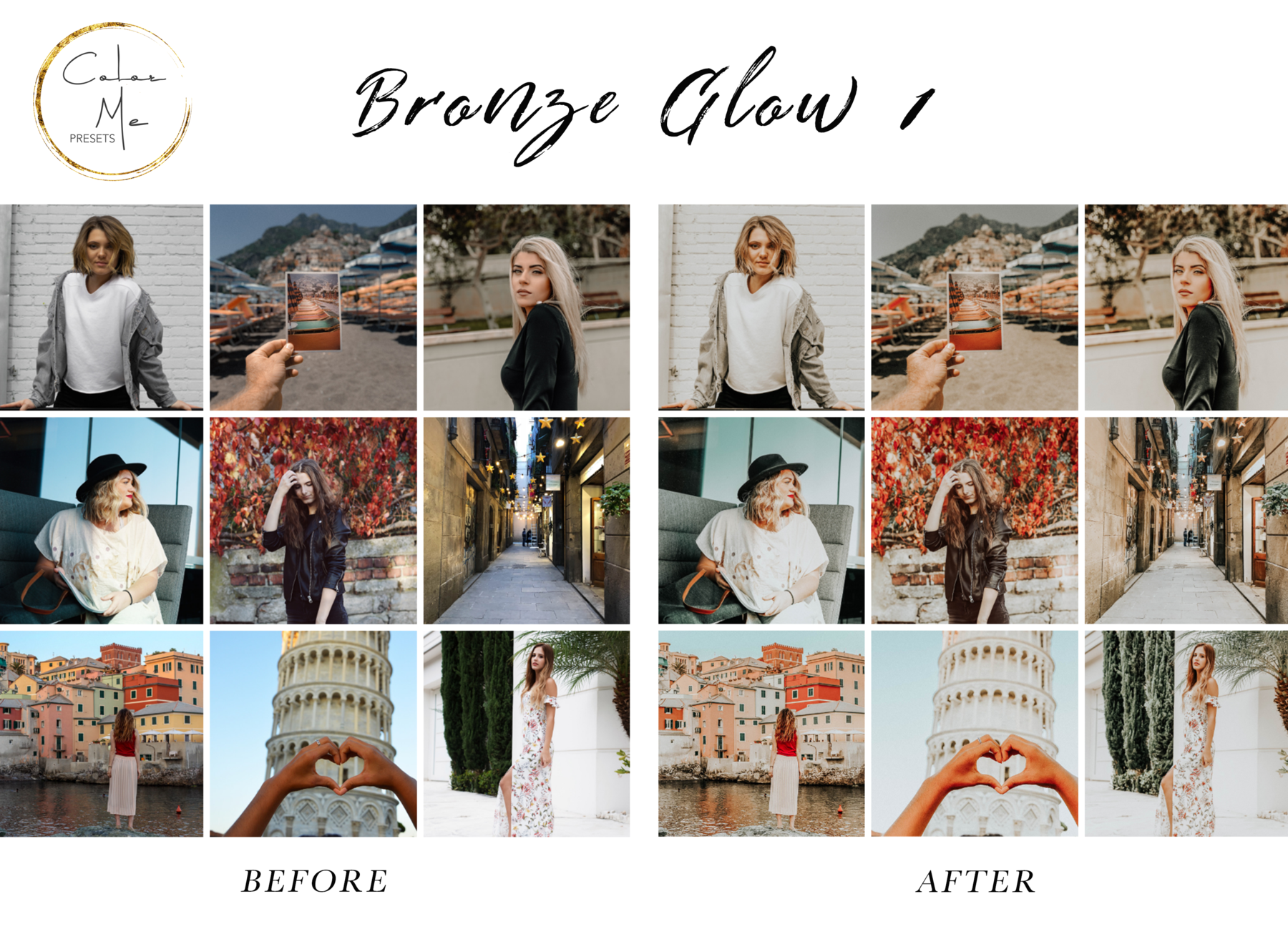Instagram Presets Feed Màu Đẹp Dành Cho Lightroom Mobile – Mobile Lightroom Presets Bronze Glow (DNG)