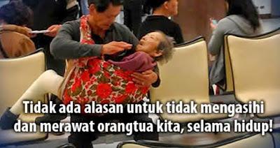 Jadilah anak yang peduli dan perhatian terhadap orang tua kalian tanpa disuruh