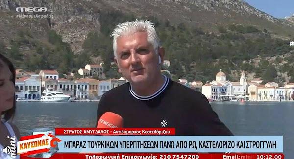Αντιδήμαρχος Καστελόριζου: Αισθανόμαστε ασφάλεια, η δύναμη αποτροπής στο νησί είναι πολύ μεγάλη