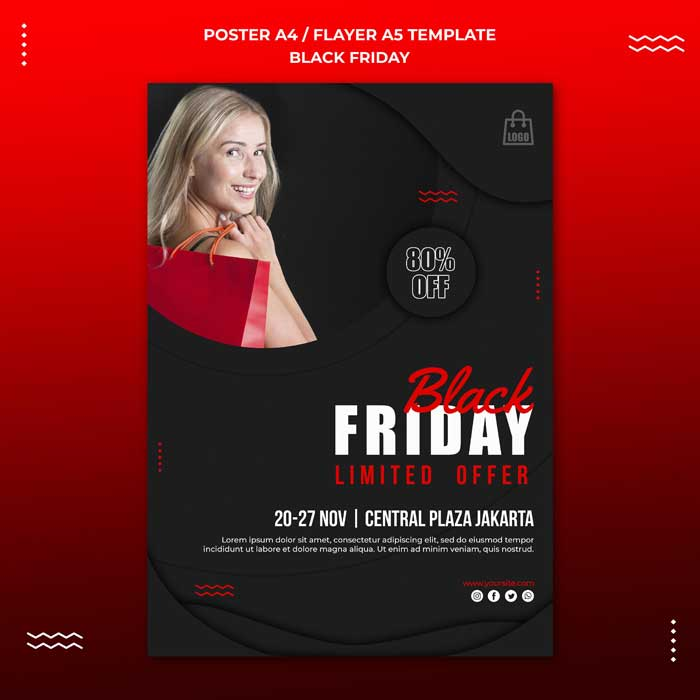 Poster PSD Template Black Friday Sale
