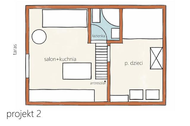 projekt domu 35m2