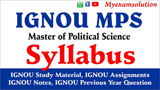ignou mps syllabus, ignou, ignou fee structure