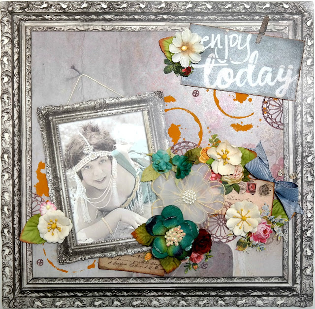 Enjoy Today Layout by Dana Tatar for Scraps of Darkness Kit Club - May 2017