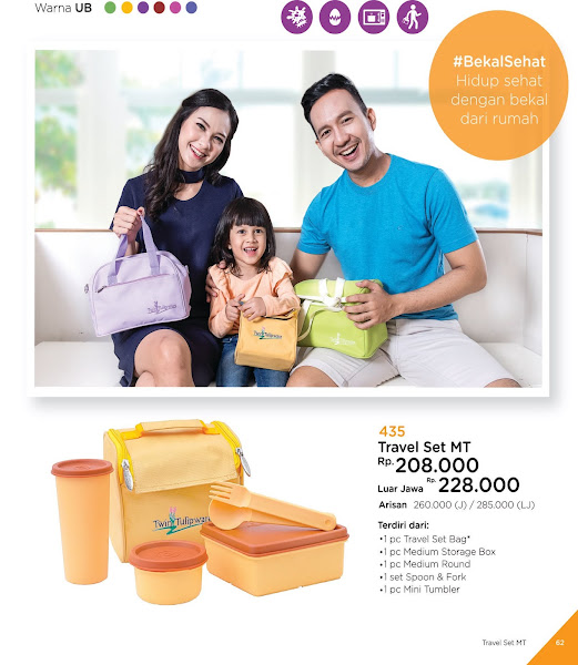 Travel Set MT, Katalog Tulipware 2019