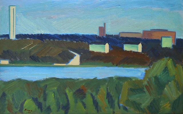 Kesäinen järvimaisema, maalaus