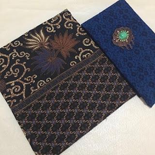 Kain Batik dan Embos 482 Pekalongan Biru
