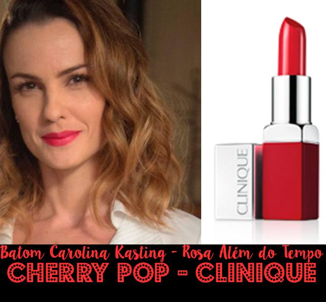 Descubra o batom vermelho da Carolina Kasting, a Rosa da novela Além do Tempo (foto:Globo/Renato Rocha Miranda)