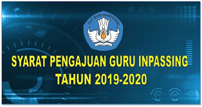 Syarat Pengajuan Guru Inpassing Tahun  2019-2020