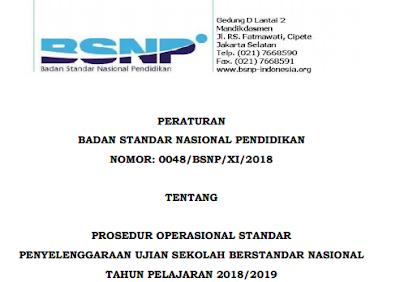 Prosedur Operasional Standar yang selanjutnya disebut sebagai POS adalah acuan untuk meng Prosedur Operasional Standar (POS) USBN 2019 SD, SMP, SMA, SMK BSNP