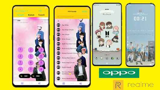 2 Tema BTS Untuk Oppo Dan Realme Tembus Aplikasi