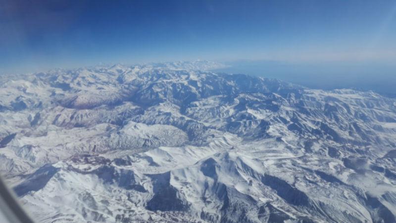 Het Andes Gebergte op grens van Chile en Argentinië