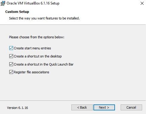 Centang Seluruh Fitur Di Oracle Vm VirtualBox
