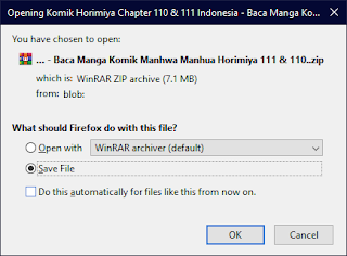 Simpan Manga ke Disk Komputer
