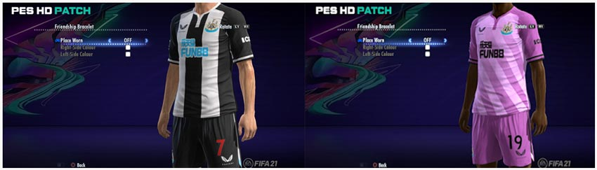 Newcastle United 2021-2022 Kits For PES 2013