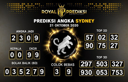 Royal Prediksi Sidney Rabu 21 Oktober 2020