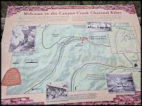 Map to the Canyon Creek Charcoal Kilns