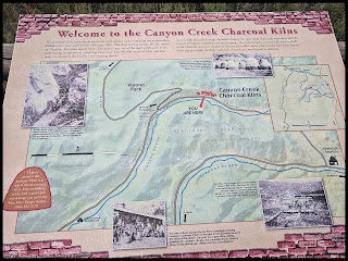 Map to the Canyon Creek Charcoal Kilns