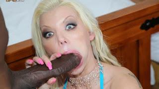 Sweet big-boobed white wife Barbie Sins VS giant black boner
